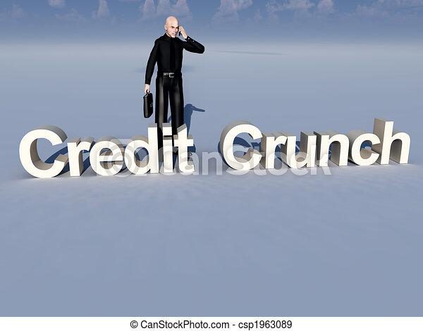 Businessman And Credit Crunch - csp1963089