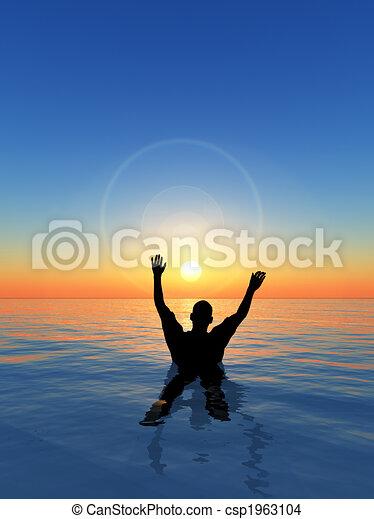 Man Drowning - csp1963104