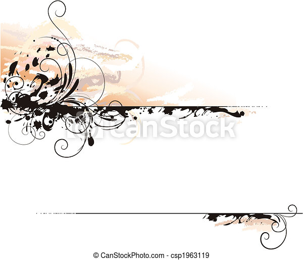 Ink Letter Decoration Background - csp1963119