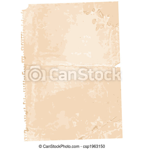 Torn Old Paper Page Background - csp1963150