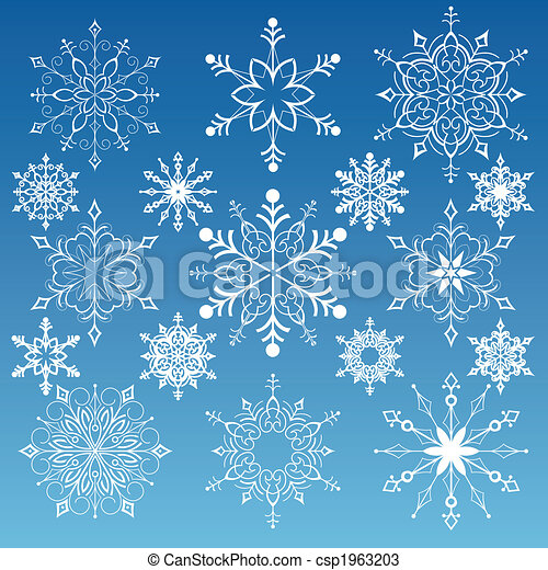 Set Of Snowflakes - csp1963203