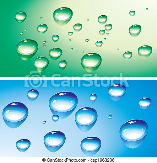 Water drops and droplets - csp1963236