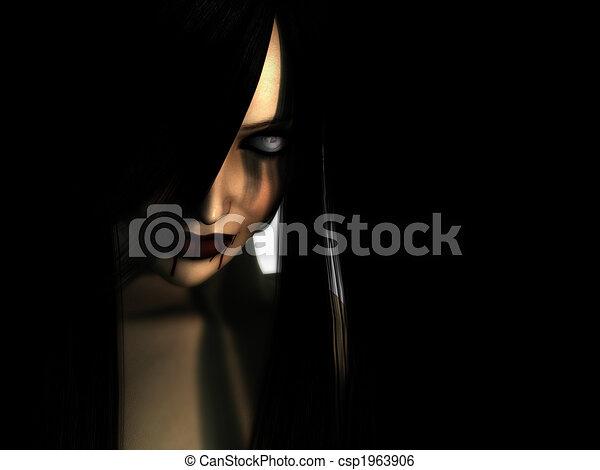 vampire woman - csp1963906