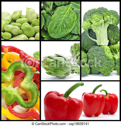 vegetables collage - csp19639141