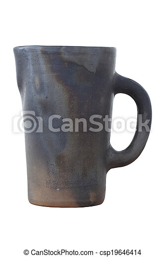 Antique ceramic mug - csp19646414