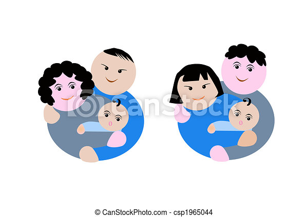 different ethnicity family - csp1965044