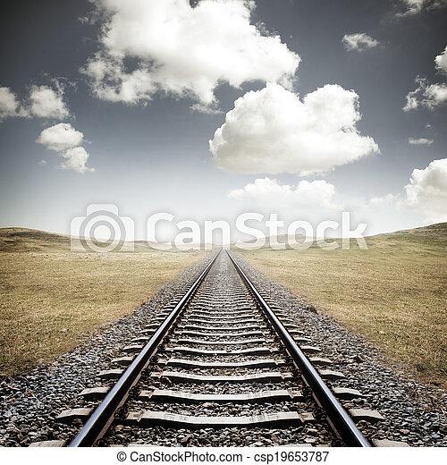ferrovia, piste - csp19653787