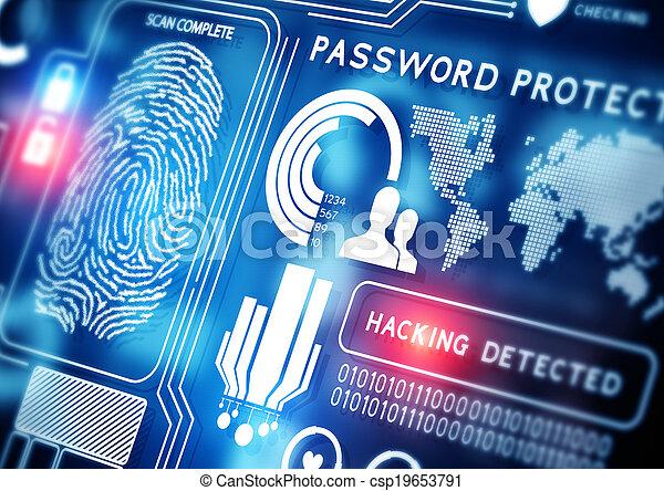 セキュリティー, 技術, オンラインで - csp19653791
