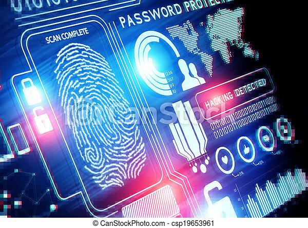 sicurezza, tecnologia, linea - csp19653961