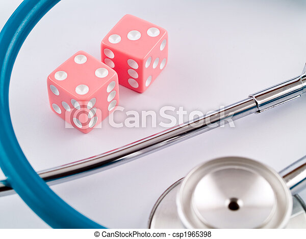 Gambling with Her Health - csp1965398
