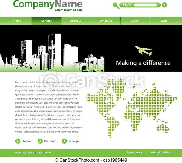 vector website template - csp1965449