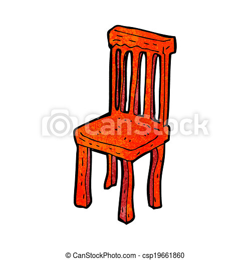 Clip art de vectores de silla de madera viejo caricatura for Buscar sillas