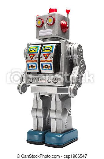 brinquedo lata, robô - csp1966547