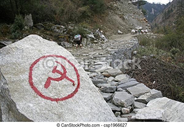 communist nepal - csp1966627