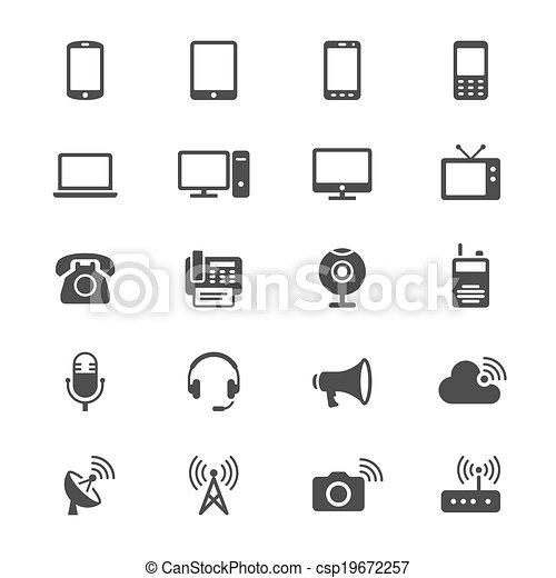 Communication device flat icons - csp19672257