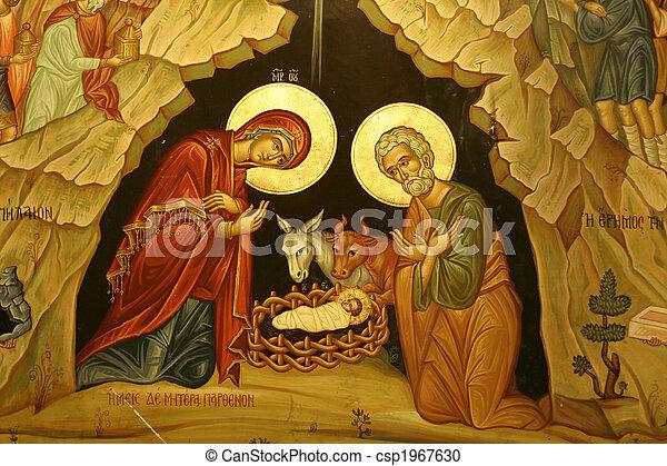 mary joseph jesus - csp1967630