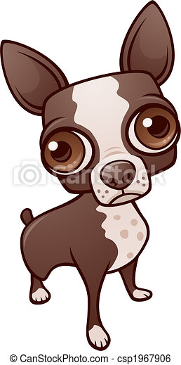 Vector Clipart of Chihuahua dog cartoon Vector illustration of funny ...