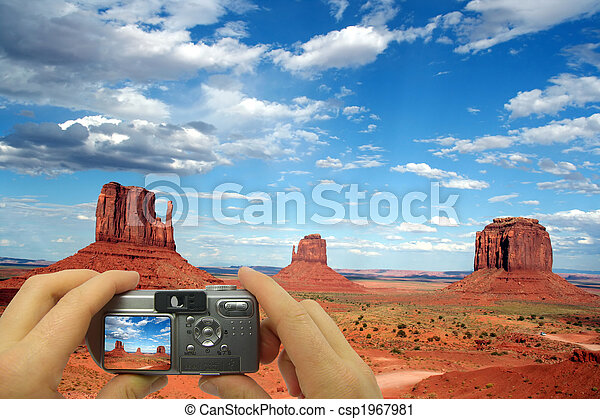 Photo montage Monument Valley  - csp1967981