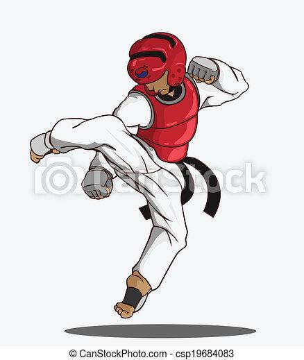 taekwondo martial art - csp19684083