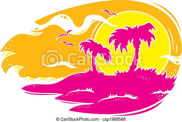 Tropical Sunset - csp1968566