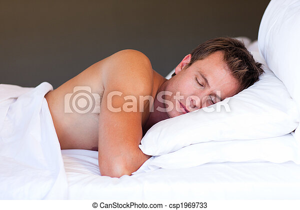 Young man sleeping - csp1969733