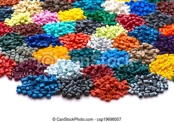 dyed plastic granulate resins - csp19698007