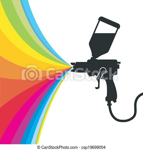 Spray Gun Drawing Silhouette Gun Spray Paint