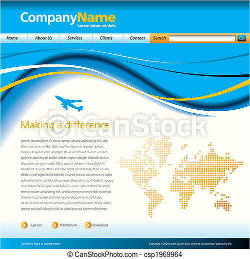 vector website template - csp1969964