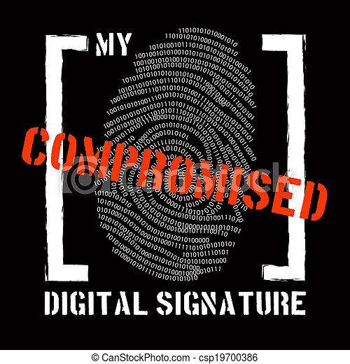 Security problem with digital signature