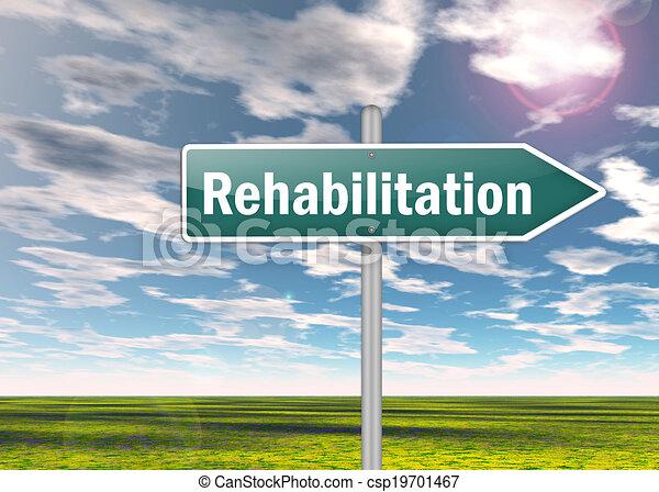 Signpost Rehabilitation - csp19701467