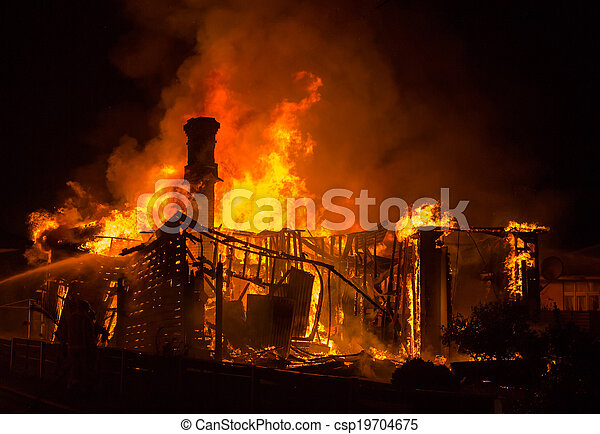 Old House Fire - csp19704675