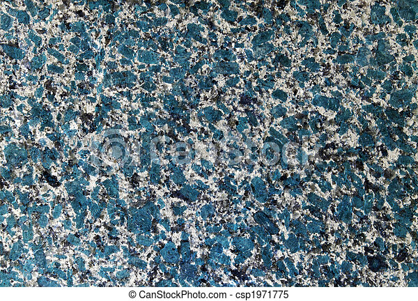 Abstract unreal futuristic blue granite wall. Textured background. - csp1971775
