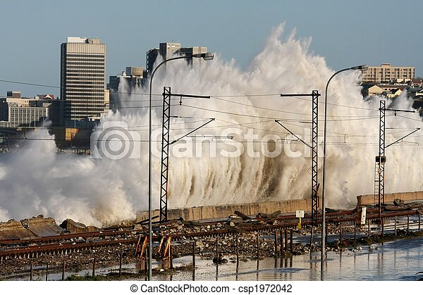 Coastal City Storm Waves - csp1972042