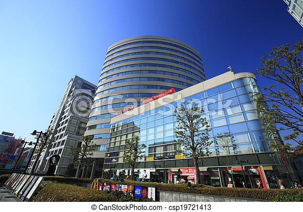 Cityscape along Aoyama Street