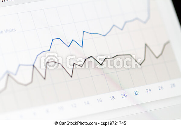 圖表, 屏幕, 監控, 圖表 - csp19721745