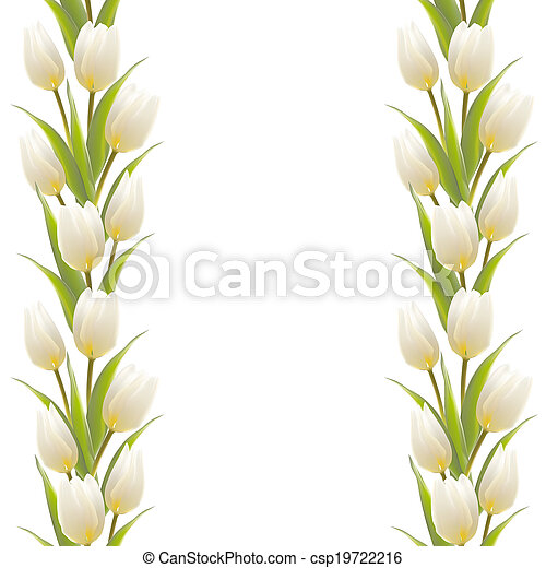 Tulip spring flowers bouquet for your card design. - csp19722216