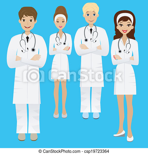Group Of Doctors Clipart Clip Art Vector of gro...