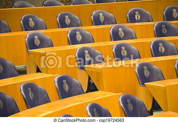 asientos, parlamento, holandés - csp19724563