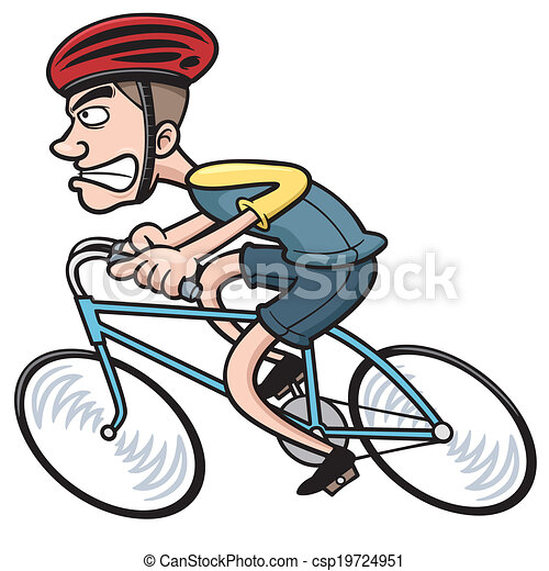 Vecteur clipart de cycliste vector illustration de - Cycliste dessin ...