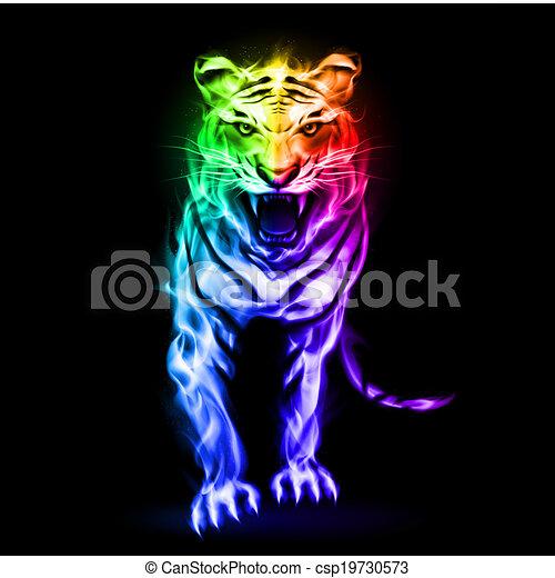 Stock Illustrationer av eld, tiger, Spektrum - eld, tiger ...