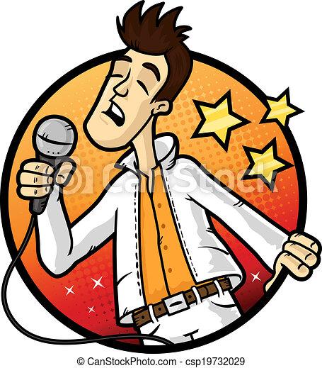 Karaoke Clipart Karaoke Star - csp19732029