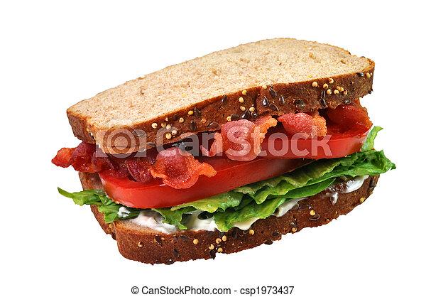 Bacon, Lettuce, and Tomato Sandwich - csp1973437
