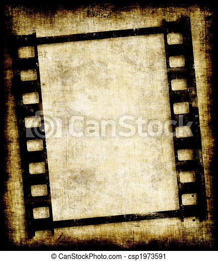 grungy film strip or photo negative - csp1973591