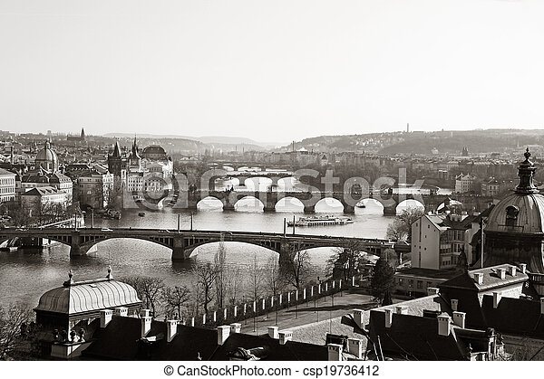 Vltava Bridges Prague - csp19736412