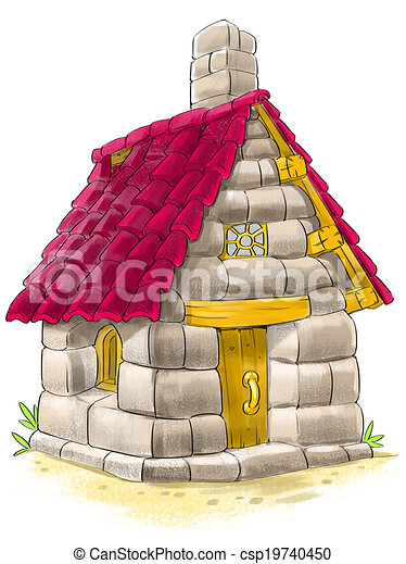 Stock Illustrations Of Fairy House From Three Little Pigs