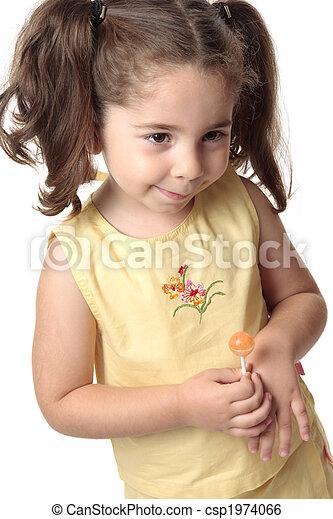 Stock beeld van verlegen toddler meisje het glimlachen een toddler csp1974066 zoek - Beeld het meisje van ...