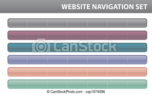 Website navigation set - Vector - csp1974096
