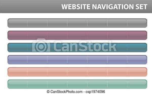 Website navigation set - Vector - csp1974096