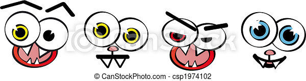 Set of emotion faces - vector - csp1974102