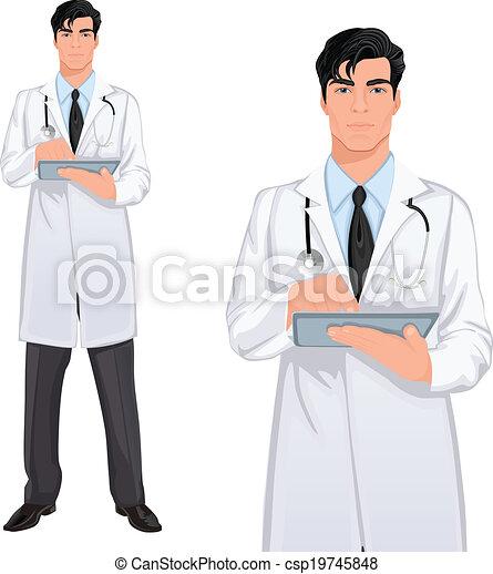 eps vector of yong man doctor medical professional Nurses Medical Clip Art Free Free Medical Graphics Clip Art
